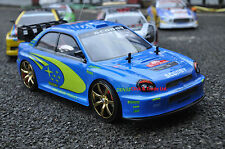 Subaru Impreza Style 4WD Radio R/C Car Drift Car 1:10 Scale 4 extra rubber Tyres