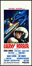 GALAXY HORROR LOCANDINA CINEMA FILM SCI-FI 1972 THE BODY STEALER PLAYBILL POSTER