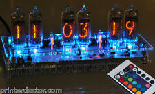 Nixie tube alarm clock clear acrylic case tomorrowland ® RGB LED remote IN-14 US