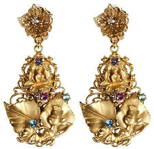 Dolce & Gabbana Baroque Floral Enchanted Forest Earrings