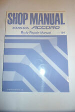 HONDA ACCORD BODY BODYWORK STRUCTURE WELD CRASH REPAIR OEM SHOP MANUAL 1994