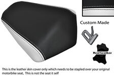 BLACK AND WHITE CUSTOM FITS DERBI GPR 50 125 SIDE EXHAUST 07-13  REAR SEAT COVER