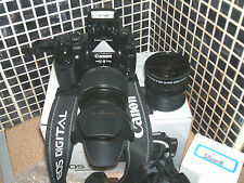 Canon EOS 400D /  10.1 MP Digital SLR Camera -  WITH THREE-LENS KIT SEMI-PRO..