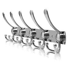 10/15 Hooks Coat Hat Clothes Robe Holder Rack Hook Wall Hanger stainless steel