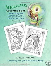 Mermaid Molly Ocean Sea Fantasy Adult Colouring Book Art Therapy Mystical Magic