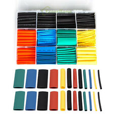 530 Pcs 2:1 Heat Shrink Tubing Tube Sleeving Wrap Wire Kit 5 Color 8 Size w Box