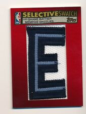 2005-06 Topps Selective Swatch SHANE BATTIER Game Worn Nameplate Patch #1/1