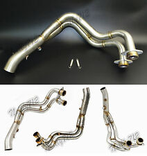 Middle Exhaust Pipe Head Tube Manifold Steel For 14-16 YAMAHA FZ-07 MT-07 RM04