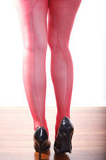 Sexy Sheer RED Nylon Stockings With Back Seamed Lingerie Pantyhose