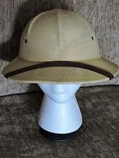 DORFMAN PACIFIC TAN PITH HELMET Safari Sun Hat ADJUST ONE SIZE FITS ALL   NWOT