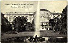 Cartolina Formato Piccolo - Torino - Giardino Di Piazza Carlo Felice E Stazione