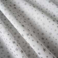 Stoffa Al Metro Cotone Tessuto cotone bianco argento argument exceptionmethod: