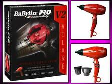 BABYLISS PRO PROFESSIONAL NANO TITANIUM LUXURY VOLARE V2 RED HAIR BLOW DRYER
