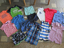 NEW LOT/14 CARTER'S BABY BOY CLOTHING SHORTS SHIRTS ROMPERS+ 12M  FREE SHIP