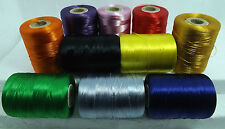 10 x STRONG NYLON SEWING THREAD SPOOLS LARGE 200 M HEAVY DUTY IN BEST COLOURS