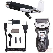 Rechargeable Cordless Electric Razor Shaver + Ear Nose Hair Trimmer Clipper