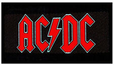 AC/DC Red Logo Woven Fabric Patch (ACDC)