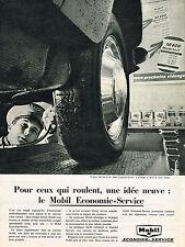 PUBLICITE ADVERTISING  1960   MOBIL     station service pour ceux qui roulent
