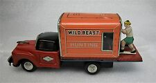 Vintage Tin Friction Toy Old Truck Japan Vtg 1950s Japanese Wild Beast Hunting