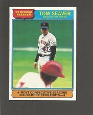 1976 TOM SEAVER - Topps Baseball Card - # 5 - NY METS HOF