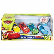Disney CARS CARNIVAL CUP Rio Race 4 Pack Raoul CaRoule McQUEEN CARLA & JEFF