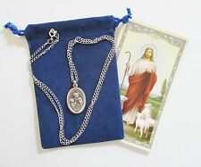 St. Ann, Saint Medal with 24 Inch Necklace