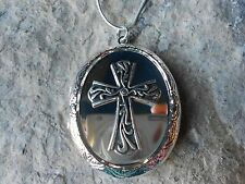 GORGEOUS CROSS LOCKET - RELIGIOUS - MIRROR LOOK!!!