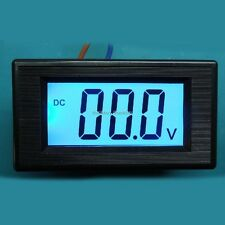 200V DC Blue LCD Digital Volt Panel Meter Voltmeter led display dc 8-12v car