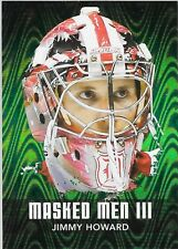 10/11 ITG Between the Pipes Masked Men III Emerald Jimmy Howard MM-24 Wings