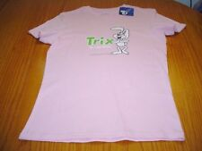 NEW WT GENERAL MILLS CEREAL TRIX ARE FOR KIDS PINK COTTON T-SHIRT JR WOMANS L