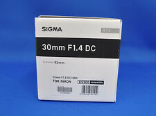 Sigma 30mm F1.4 DC HSM Art Lens for Nikon Mount Japan Model New
