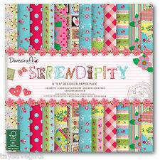 """Dovecraft - designer paper pack 8x8"""" - Serendipity - 48 x 150gsm sheets"""