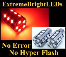 TWO Brilliant RED No Resistor Required 7507 BAU15s PY21W 20-SMD LED Lights