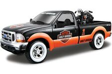 HARLEY DAVIDSON MAISTO 1:24,1999 Ford F-350 Super Duty Pick Up W/ El Knucklehead
