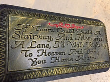"""If tears could build concrete bench top mold  plastic mould memorial bench 3/16"""""""