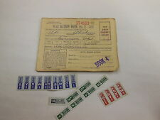 United States WAR RATION BOOK w/ many different stamps on inside 1943