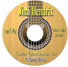 Jimi Hendrix *GUITAR TABS* Lesson Software CD - (122 SONGS)