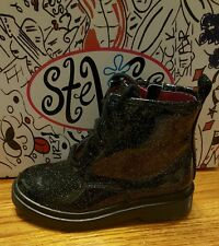 STEVIES BY STEVE MADDEN - JPLAYY - GIRLS' ANKLE BOOTS - SIZE 13 M - BLACK - NEW
