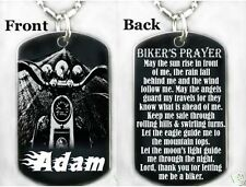 A BIKER'S PRAYER - Dog tag Necklace/Key chain + FREE ENG.