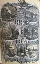 ICELANDIC LEGENDS - Elves~Ghosts~Trolls - Very Rare Old Leather Book 1st Ed 1864