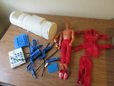 Vintage 1973 Six Million Dollar Man Lot Figure And Extras