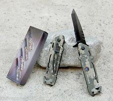 "7.5"" Camo Helicopter Air Force Tactical Rescue Spring Assisted Pocket Knife"