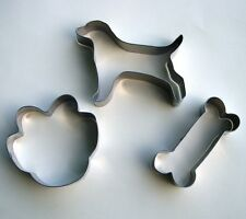 Dog Bone Paw Fondant Baking Pastry Biscuit Stainless Steel Cookie Cutter Set 456