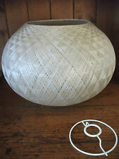 VINTAGE MID CENTURY SPUN FIBREGLASS LIGHT SHADE