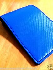 Leather Yardage Book Cover BLUE Golf Scorecard Holder Handmade PGA FREE SHIPPIN