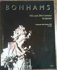 Bonhams Auction Catalog 19th & 20th Century Sculpture October 1992 Sale 25,634