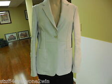 Tod's White Lamb Leather Blazer Jacket Sz 42
