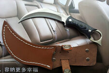 SC261 Outdoor Scorpion Claw Type Knife Camping Jungle Survival Knife w/Leather