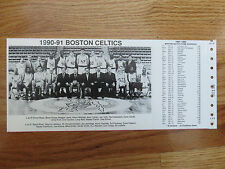 1990-91 BOSTON CELTICS Team Photo Schedule LARRY BIRD RED AUERBACH KEVIN McHALE