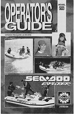 Sea-Doo Owners Manual Book 1993 Explorer